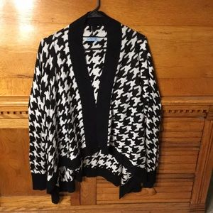 Cynthia Rowley Houndstooth Cardigan Sweater